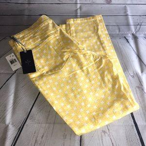 NYDJ Lemon Print Jeans Size 12